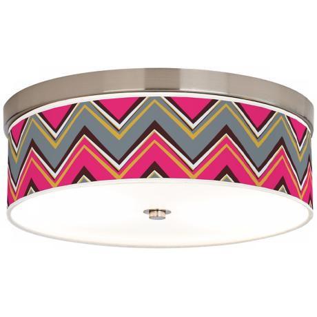 "Stacy Garcia Chevron Pink Pride 14"" Wide Ceiling Light"