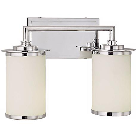 "Glass Note ENERGY STAR® 14"" Wide Bathroom Light"
