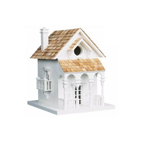 Cozy White Cottage Bird House