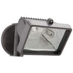 Bronze Mini Single Head Halogen Outdoor Flood Wall Light