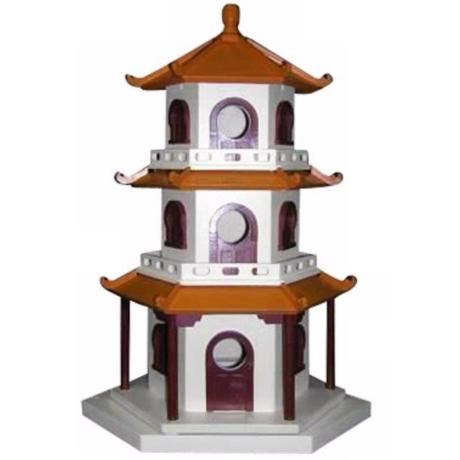 Three-Tiered Pagoda Bird House