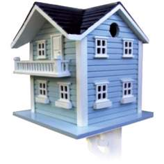 Two Story Light Blue Bird House
