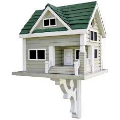Green Roof Bungalow Bird House