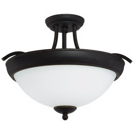 Blackwell Black Bronze ENERGY STAR® Semi Flush Ceiling Light
