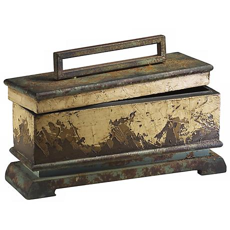 Weathered Gold Leaf Accent Box