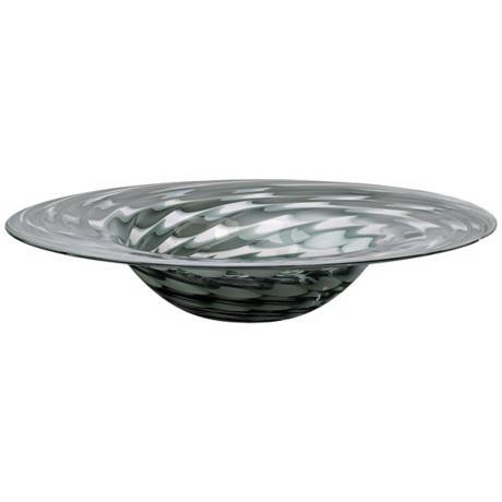 Pistachio Light Green Smoked Glass Bowl
