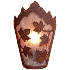 "Decatur Collection Maple Leaf 10"" High Wall Sconce"