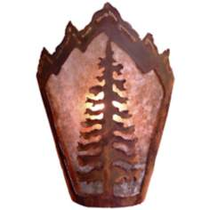 "Decatur Collection Cedar Tree 10"" High Wall Sconce"