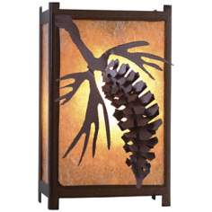 "Savern Series Pinecone 8"" High Wall Sconce"