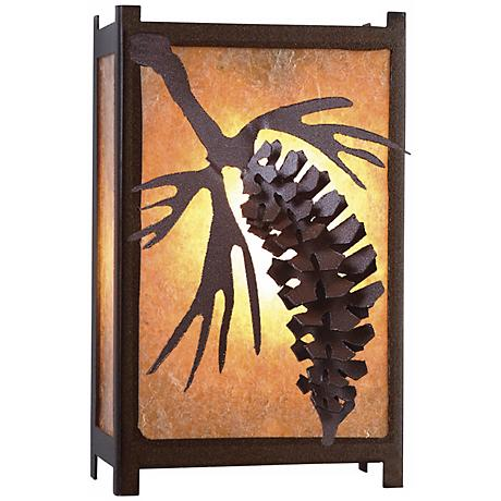 "Savern Series Pinecone 11"" High Wall Sconce"