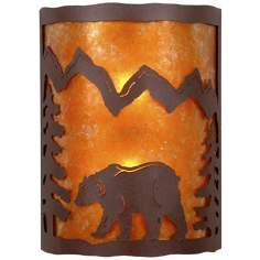 "Cascade Collection Bear 12"" High Wall Sconce"