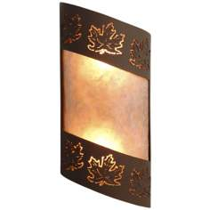 "Fargo Collection Maple Leaf 14"" High Wall Sconce"