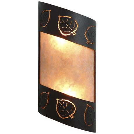"Fargo Collection Aspen Leaf 14"" High Wall Sconce"