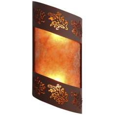 "Fargo Collection Cedar Leaf 14"" High Wall Sconce"