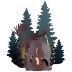 "Alaskan Moose 15"" High Outdoor Wall Light"