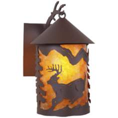 "Cascade Lantern Mountain Deer 13"" High Outdoor Wall Light"