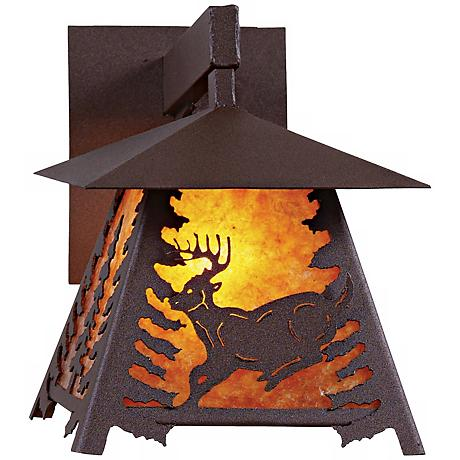 "Smoky Mountain Deer 12"" High Outdoor Wall Light"
