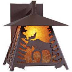 "Smoky Mountain Moose 14"" High Outdoor Wall Light"
