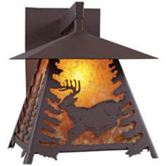 "Smoky Mountain Deer 14"" High Outdoor Wall Light"
