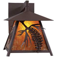 "Smoky Mountain 3D Cone 14"" High Outdoor Wall Light"