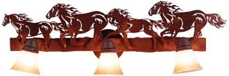 "Logen Collection Horses 24"" Wide Bathroom Light Fixture (J0493)"