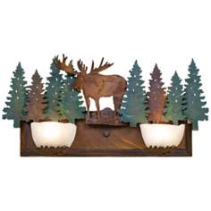 "Avalanche Collection Moose 24"" Wide Bathroom Light Fixture"
