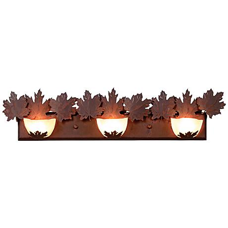 "Avalanche Collection Maple 36"" Wide Bathroom Light Fixture"
