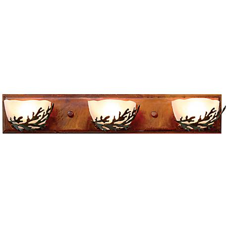 "Logen Collection Cedar 24"" Wide Bathroom Light Fixture"