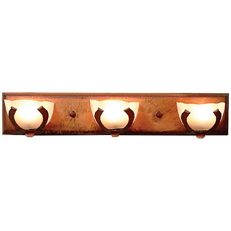 "Logen Collection Horseshoe 24"" Wide Bathroom Light Fixture"