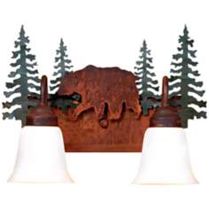 "Wasatch Collection Bear 16"" Wide Bathroom Light Fixture"