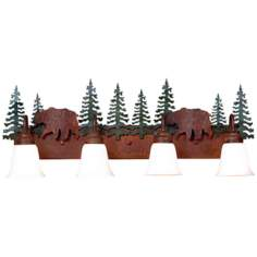 "Wasatch Collection Bear 36"" Wide Bathroom Light Fixture"