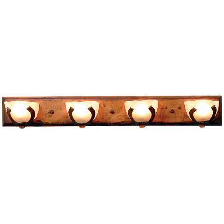 "Logen Collection Horseshoe 33"" Wide Bathroom Light Fixture"