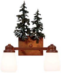 Rustic Bathroom Wall Light at LAMPS PLUS