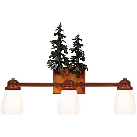 "Parkshire Collection 3D Cedar 22"" Wide Bathroom Light"