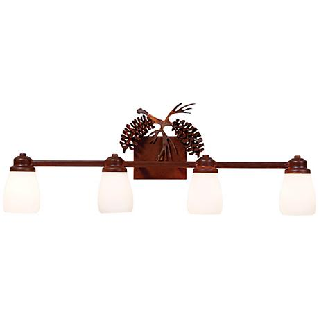 "Parkshire Collection 3D Cone 30"" Wide Bathroom Light Fixture"