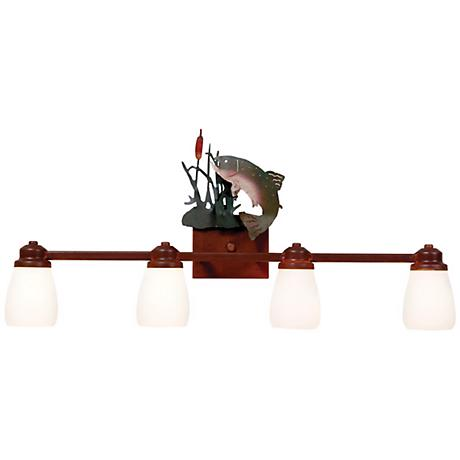 "Parkshire Collection Trout 30"" Wide Bathroom Light Fixture"