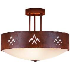 "Ridgecrest Collection Deception Pass 17"" Wide Ceiling Light"