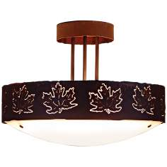 "Ridgecrest Collection Maple Leaf 17"" Wide Ceiling Light"