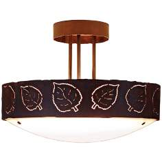 "Ridgecrest Collection Aspen Leaf 17"" Wide Ceiling Light"