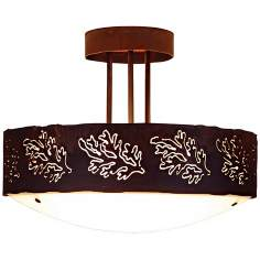 "Ridgecrest Collection Cedar Bough 17"" Wide Ceiling Light"