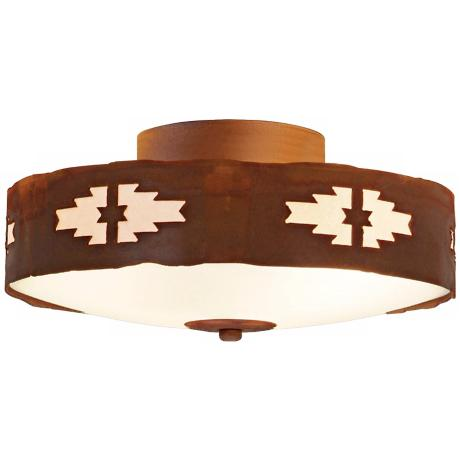 "Ridgewood Collection 12"" Wide Ceiling Light"