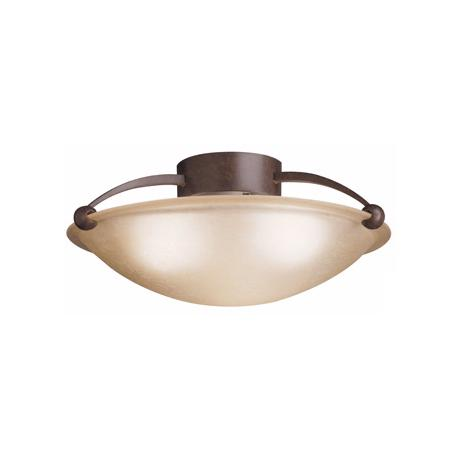 "Kichler Sunset Glass ENERGY STAR 17"" Wide Ceiling Light"