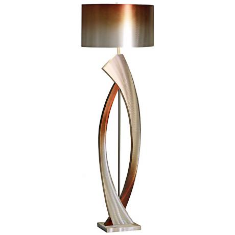 Nova Swerve Brushed Aluminum Floor Lamp