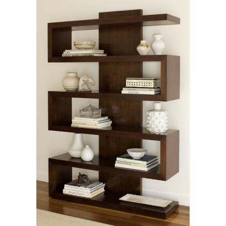 Ralston Chestnut Brown Finish Bookcase