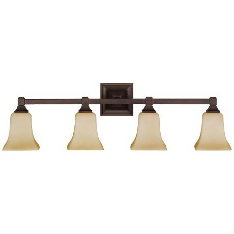 "American Foursquare Collection 31"" Wide Bathroom Light"