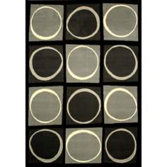 Econox Eclipse Gray Area Rug