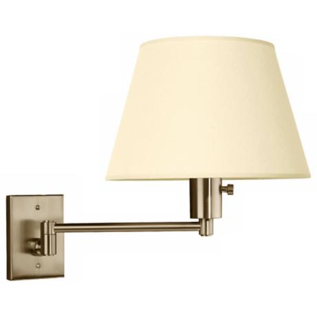 Urban Boulevard Brushed Nickel Hardwired Swing Arm Wall Lamp
