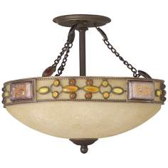 "Kichler Etruscan Glass 17"" Wide Ceiling Light Fixture"