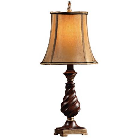 Bronze Crackle Twist Column Table Lamp