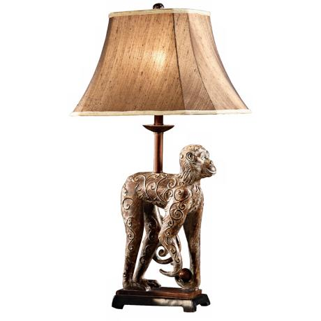 Monkey Court Aged Crackle 3-Way Accent Lamp